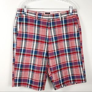 J. Crew Men's Rivington Plaid Shorts Size 33 NWT